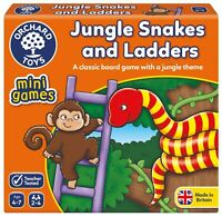 Jungle Snakes & Ladders ~ Mini Game by Orchard Toys 4+