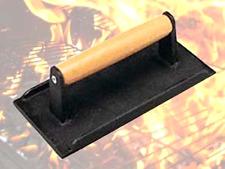 New BBQ Grill Steak Weights Press Cooking Utensils 8 Inch Heavy Weight Cast Iron