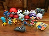 Pokemon Toy Bundle - Tomy Pokeball and Figures + Cards and Tin