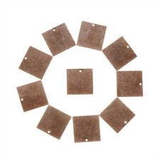 10 x Red Copper Metal Tags Brass Blank Stamping Tag Pendants Square  20x20x0.5mm