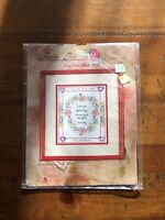 "Sandi Phipps Counted Cross Stich ""love Comes Back"" 10"" X 8.5"
