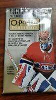 2017-18 o-pee-chee platinum hockey 4 card packs - see checklist inside
