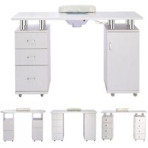 Professional Manicure Table Nail Beauty Salon Station Technician Storage Desk UK