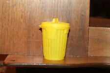 """1988 Vintage Topps Bubble Gum GARBAGE Can-dy Empty Pail Can Container Yellow 2"""""""