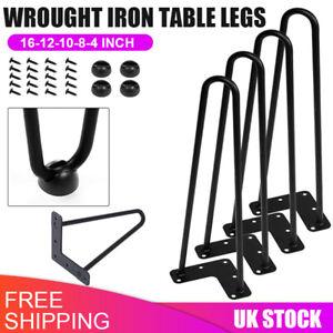 4PCS Hairpin Table Legs Hair Pin Legs Set for Furniture Bench Desk Metal Steel