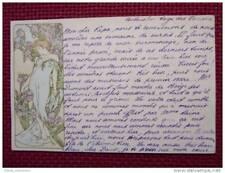 CPA illustrée illustrateur MUCHA Femme 1903 (1007)