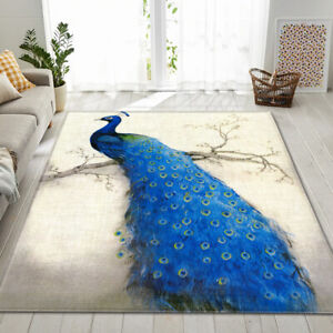 Peacock Series Small Large Long Floor Carpet Area Rugs Various Size Soft Rug