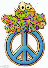 """6"""" PEACE SIGN FROG CHARACTER PEEL STICK WALL BORDER CUT OUT STICKER"""