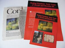 Finding Freedom 40 Yeas of Russian Art - Leepa Rattner Museum of Art Program Set