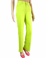 VERSACE Authentic Vtg 90s Classic High Waist Green Pants Jeans UK 10 Small AT40