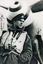 Italy WWII Ace 19 Victories Luigi Gorrini SIGNED 5x7 PHOTO AUTOGRAPH RARE