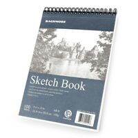 """Sketchpad 9X12"""" Inch (68lb/100g), 100 Sheets of Top Spiral Bound Art Supply"""