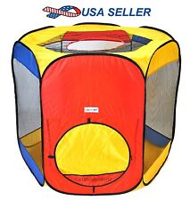 Kids Jumbo Hexagon Portable Pop Up Play Tent Indoor/Outdoor Playhouse Ball Pit