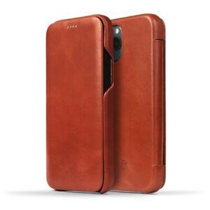 Novada Genuine Leather iPhone 12 Flip Case Cover