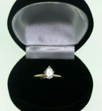 14K Ladies Yellow Gold .82 Ct Pear Diamond Solitaire Engagement Ring