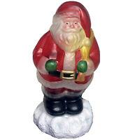 "Vintage Mercury Glass Santa Table Desk Christmas Night Light 11"" Original Box"
