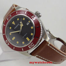 steel 43mm parnis dial date Sapphire Glass miyota 8215 automatic mens Watch P591