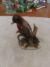 Vintage Lefton China Red Robin Hand Painted Figurine Kw464 no dings