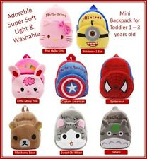 Toddler 1 -3 years old Mini Backpack Adorable Light and Super Soft PreSchool Bag