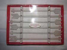 6 Arrow Stirrers - Frosted - Swizzle Sticks - Western - Nib - Ganz