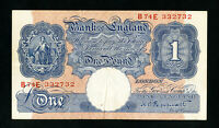 Bank of England 1 Pound Blue & Brown XF