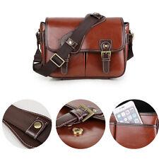 Waterproof Vintage PU Leather DSLR Camera Bag Padding Case For Canon 5D 6D 7D