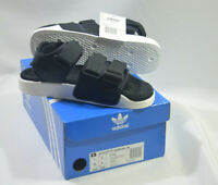 New Adidas Originals Womens ADILETTE SANDAL W S75382 BLACK WHITE US 7 UK 6 SLIDE