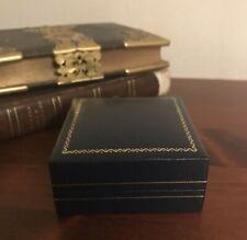 Vintage Jewellery Jewelery Box Ring Presentation Case Pendant Broach Black
