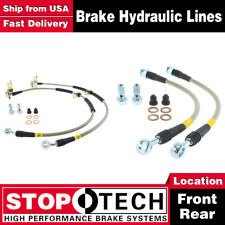 Stoptech Front + Rear Pairs Stainless Steel Brake Lines For 2003-2013 Mazda 6