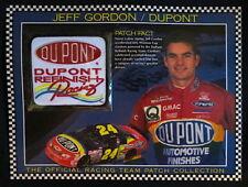 JEFF GORDON / DUPONT RACING ~ Willabee & Ward NASCAR RACE TEAM PATCH + Info Card