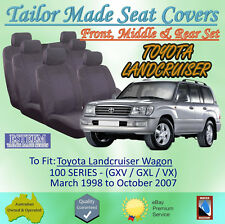 Tailor Made Seat Covers for Toyota Landcruiser 100 Series: 03/1998 to 10/2007