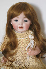 """perruque Jumeau®blond roux28/29cm-poupée ancienne moderne-doll Wig head sz11"""""""