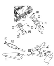 Genuine MOPAR Catalytic Converter 5085980AD