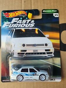 Hot Wheels 2019 - VW JETTA [WHITE] FAST AND THE FURIOUS NEAR MINT CARD GREAT