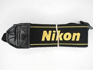 #2 Nikon AN-DC1 Black / Yellow Camera Neck Strap For SLR / DSLR