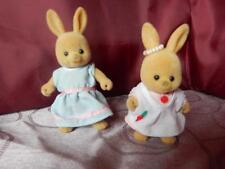 Sylvanian Families RARE Vintage Maple Town Rabbit Figures in Original Outfits