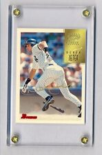 DEREK JETER 1997 BOWMAN GOLD INK SIGNATURE ON CARD AUTOGRAPH AUTO RARE YANKEES