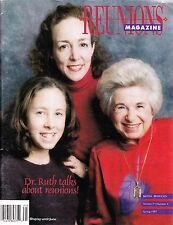 Reunions Magazine Spring 1997 - Dr. Ruth talks about reunions!  Military, Church