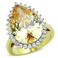 Cubic Zirconia Solitaire with Accents Simulated Costume Rings