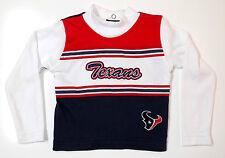 NFL Houston Texans Girls Long Sleeve 24 Months Cheerleader Top Shirt