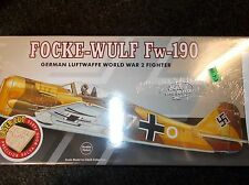 GUILLOWS AUTHENTIC SCALE FLYING MODEL AIRPLANE KIT FOCKE-WULF FW-190