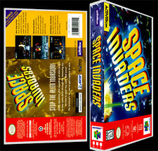 Space Invaders  - N64 Reproduction Art Case/Box No Game.