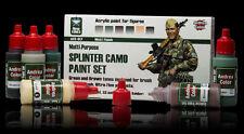 Andrea Miniatures Andrea Color Splinter Camo Paint Set #ACS-017