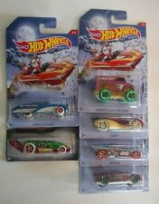 Hot Wheels 2016 Holiday Hot Rods Complete Set & 2017 Happy New Year 6 Cars NEW