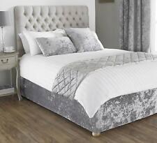 Verona Bed Wrap Silver Crushed Velvet 150 X 200cm - Return New.