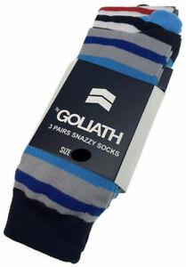 ST GOLIATH 3pk Wally Socks Snazzy Sox - Multi Stripe