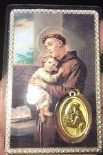 Saint Anthony Laminated Miracle Prayer Medal Favor Card, 12/pk, Italy