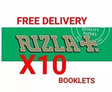 10x Rizla Green Medium Thin Cigarette Rolling Papers 100% Genuine Rizzla