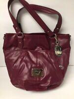 Liz Claiborne New York Purse Handbag, Shoulder bag, Crossbody, Maroon LCNY