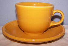 NEW  FIESTAWARE MARIGOLD COFFEE TEA CUP + SAUCER FIESTA RETIRED